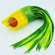 Koya Lures Xxl Poi Dog Chartreuse Fish Scale Big Game Trolling Lure Marlin New