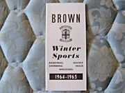 1964-65 Brown Hockey Media Guide Yearbook 1965 Frozen 4 Basketball Track Ad