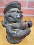 Orig Old Popeye The Sailor Industrial Metal Toy Making Mold Rare Htf Pipe Hat