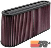 Kandn Universal Air Filter - Carbon Fiber Top And Base For Oval Flg Rp-5105