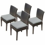 Tkc Napa Patio Dining Side Chair In Gray Set Of 4