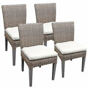 Tkc Oasis Patio Dining Side Chair In White Set Of 4