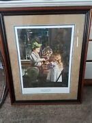 Bob Byerley 2008 Signed Jackpot Print. Signature Lower Right Framed And Matted.