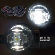 Fit 2010-2014 Toyota Prius 6000k Built-in Led Fog Lights Kit With Drl And Wiring
