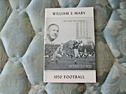1950 William And Mary Indians Football Media Guide Yearbook Press Book Program Ad