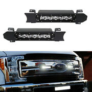 30w Cree Led Light Bars W/ Front Grille Bracket Wirings For 17-19 Ford F250 F350