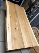 Brand New Large Hickory Live Edge Slab Dining Table Amish Built From Ohio
