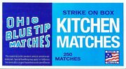 Ohio Blue Tips Tip Strike On Box Large Wood Kitchen Matches Wooden Cigar Match