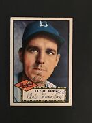 1952 Topps Baseball 205 Clyde King Auto. Ex-mt From The Mastro Collection