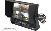 Accele Lcdp7quad 7 Lcd Monitor For Large-vehicle Backup System — 4 Camera Input