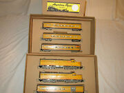 American Flyer Set Box And Inserts Only For 2 Engines And Passenger Carsno Trains