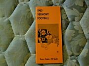 1965 Vermont Football Media Guide Yearbook Press Book Program College Ad