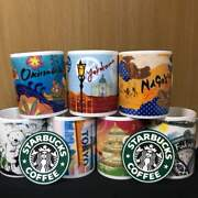 Starbucks Region Limited Mug 7 Pieces With 2013 Year Coaster Rare From Japan F/s