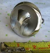 Nos 2-1/4 Stainless Flush Mount Boat Ski Tow Eye With Nuts No Backing Plate