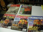 Five Magazines On Trains Trains 1951trains4kids Sealed Trains 2000 And 2 Loco