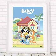 Bluey - Family House - Kids Poster Picture Print Size 61 X 91cm Free Delivery