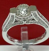 14k White Gold Solitaire Engagement Ring 1.10ct Cnti -j Color Vs Qw Wedding