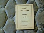 1949 Brown Football Media Guide Yearbook Joe Paterno Penn State Nittany Lions Ad