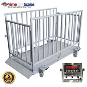 5 Year Warranty Stainless Indicator 2,500 Lb Cage Included Livestock Scale