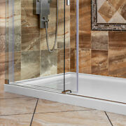 60x32 Shower Base Pan Left Double Threshold Wall Corner Left Drain By Lesscare