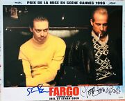 Peter Stormare And Steve Buscemi Signed Fargo Original Lobby Card. In Person Proof