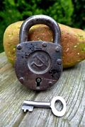 Antique Padlock Soviet Hammer And Sickle Working Order Collector Old Russia 29-03