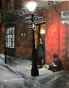 Originalacrylic Painting Russian Fiddler, French Quarter, New Orleans,2018