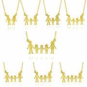 14ct Motherand039s Necklace Family Children Fine Solid Yellow Gold 585