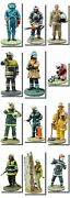 Model Firemen Figures From Around The World , 1/32 - 7cm Tall Part 2 67-125