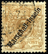 German Offices In Marshall Islands Year 1897-99 Michel 1 I Used Top Value