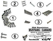 1967-1968 Mustang Coupe Interior Trim Screw Kit - New