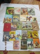 Large Lot Of Vintage Childrenand039s Kidand039s Books Related To Horses And Cowboys Great