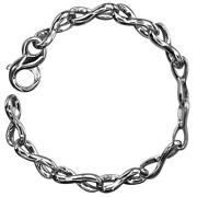 Infinity Link Bracelet In Sterling Silver 8.5 Inches Long