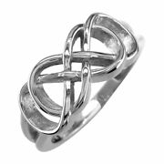 Double Infinity Symbol Ringbest Friends Forever Ring8mm In 14k White Gold