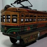 Rare Journey Tin Train Japanese Vintage Rare Made In Japan 1952 Made F/s