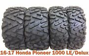 Full Set Atv Tires 27x9-14 And 27x11-14 For 16-17 Honda Pioneer 1000 Le/delux