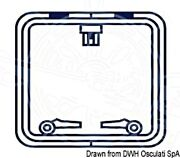 Oceansouth Boat Marine Hatch Protection Cover Square Blue 700x700mm