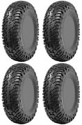 Four 4 Cst Lobo Rc Atv Tires Set 2 Front 32x10-14 And 2 Rear 32x10-14 Ch68