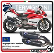 Termignoni Force 2 Exhausts Carbon Approved Ducati Panigale 959 2016