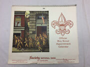 Official Boy Scout Appointment Calendar 1968 Society National Bank Advertising