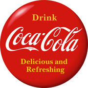 Drink Coca-cola Red Disc Removable Wall Decal 1910s Style