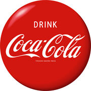 Drink Coca-cola Red Disc Removable Wall Decal 1930s Style