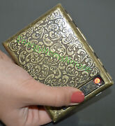 Usb Rechargeable Electric Built-in Flame Less Lighter Cigarette Case