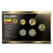 Colombia 5 Coins Full Set 50 100 200 500 1000 Colombian Pesos 2012-2013 Unc