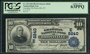 Fr625 8240 10 1902 Plain Back Bronxville Ny Pcgs 63 Ppq Only 4 Known Wlm5066