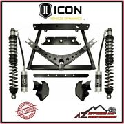Icon 0-3 Rear Stage 1 Coilover Conversion System Kit For 07-18 Jeep Wrangler Jk