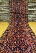 Exquisite Primitive Antique Cr1930-1939s Wool Pile 3and0391andtimes11and0395 Kurdish Runner Rug