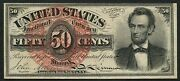 Fr1374 50andcent 4th Issue Lincoln Fractional Note -- Choice Cu -- Cv 1200 Hw3897