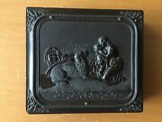 Rare Gutta Percha Dag Mother Embracing Child Thermoplastic Case Sixth Plate