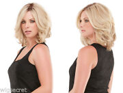 Mid Length Prem Human Hair Lace Front Carrie By Jon Renau Blonde Red Wigs